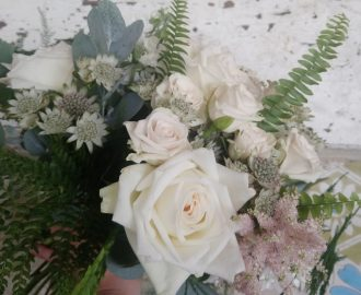 Beautiful Summer informal bridal bouquet Bristol UK
