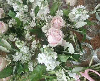 Beautiful Summer Wedding Flowers behind the scenesBristol UK