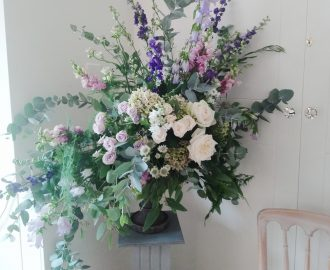 Beautiful sophisticated informal Summer Wedding Flowers Bristol UK